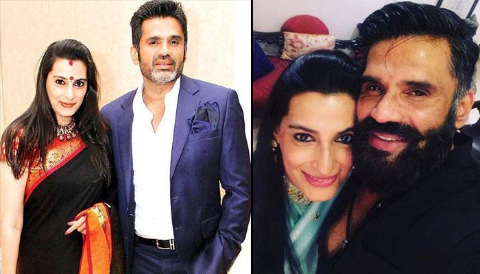 sunil shetty and wife