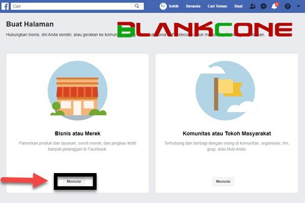cara membuat fanspage facebook memulai