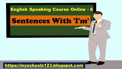 Sentences With 'I'm'