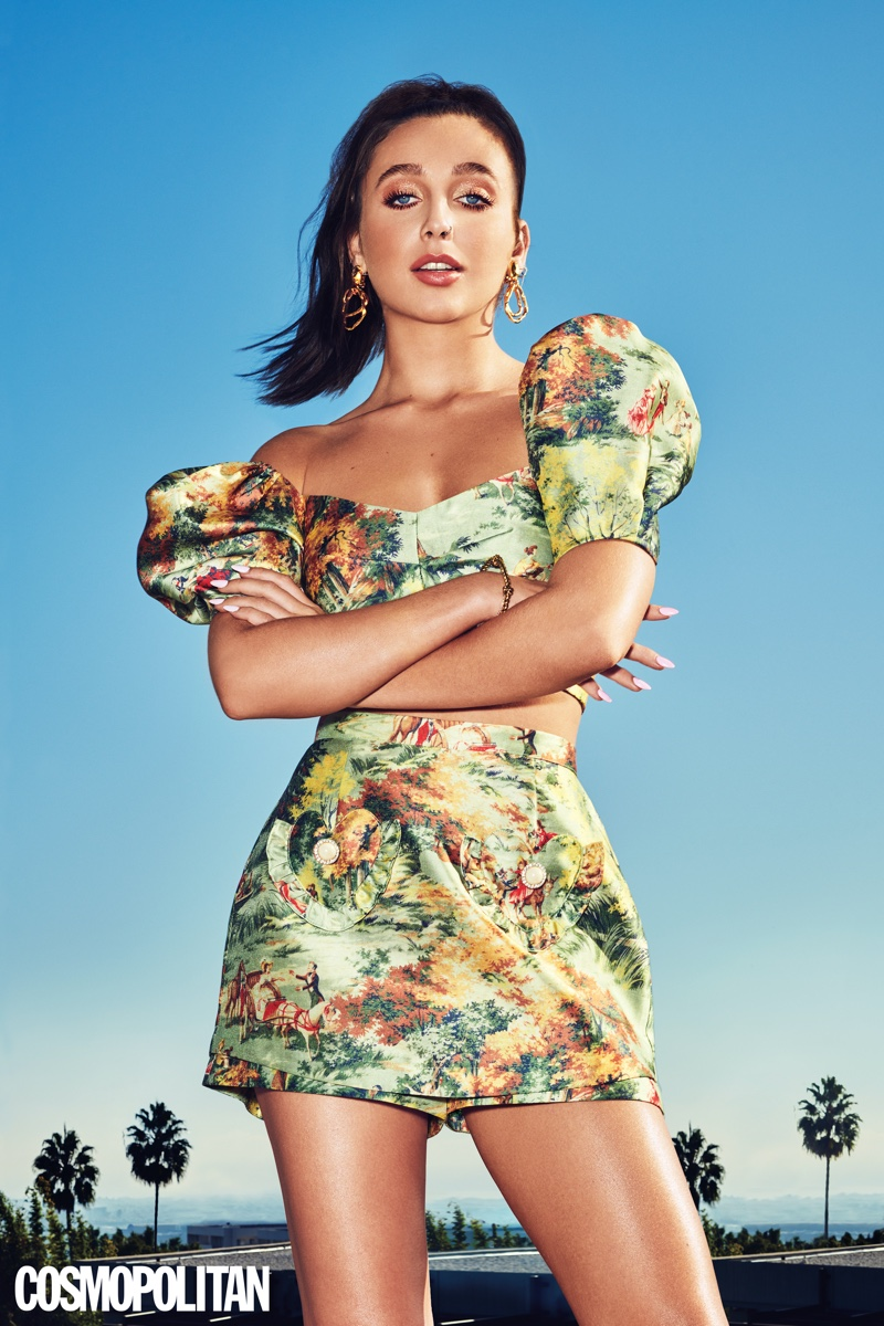 Emma Chamberlain strikes a pose for Cosmopolitan Magazine