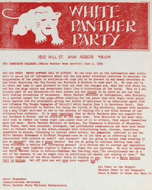 Publicación original del Partido Panteras Blancas