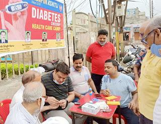 #JaunpurLive : लायंस क्लब क्षितिज ने लगाया निःशुल्क मधुमेह जांच शिविर