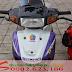 Sơn xe Satria Xipo màu trắng tím đen [Xipo_SG2004]