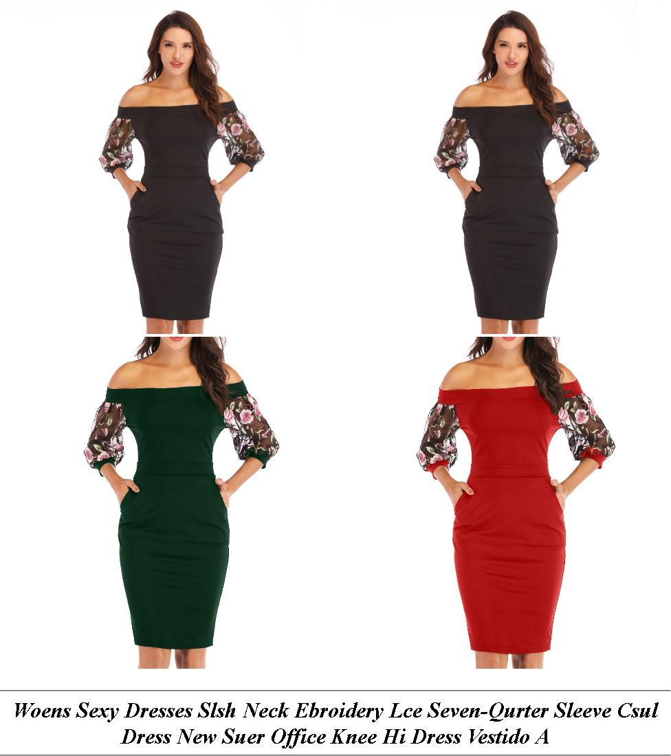 Long Dresses - Sale Shop - Off The Shoulder Dress - Cheap Womens Summer Clothes