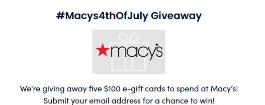Win a $100 Macy's E-Gift Card