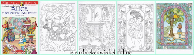 CH 189 kleurboek Alice in wonderland