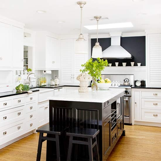 white kitchen with black island 25 beautiful black and white kitchens the cottage market 26231