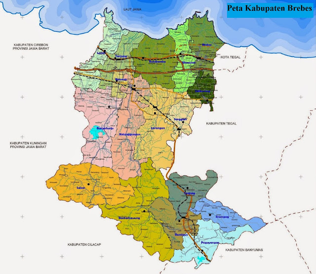 Peta Kabupaten Brebes