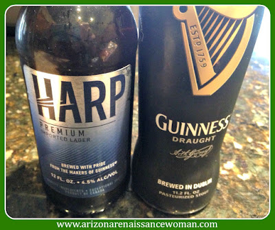 Harp and Guinness for Black and Tan Tacos with Baileys Spiked Whipped Cream