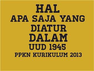 Hal Yang Diatur Dalam UUD 1945, Apa Saja yang Diatur dalam UUD 1945