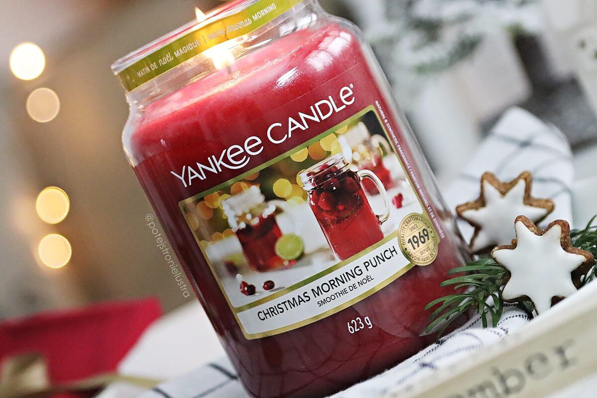 yankee candle christmas morning punch etykieta