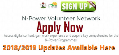 Npower 2018 Registration Form | Apply Online Here