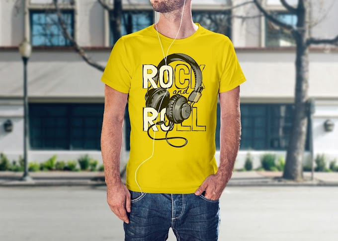 Rock and Roll T Shirt Design Template