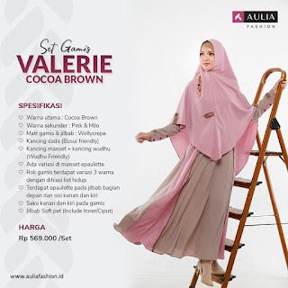 Koleksi Gamis Syari Muslimah Valerie Cocoa Brown Syari by AULIA Fashion