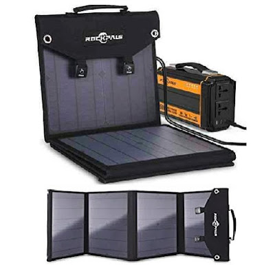 Rockpals Solar Charger - Foldable 60Watts Energy Panels - Potable Power Pack