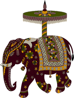 Elephant-traditional-vector-patch-design