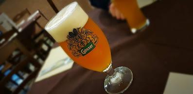 bicchiere di Gösser la Birra Austriaca