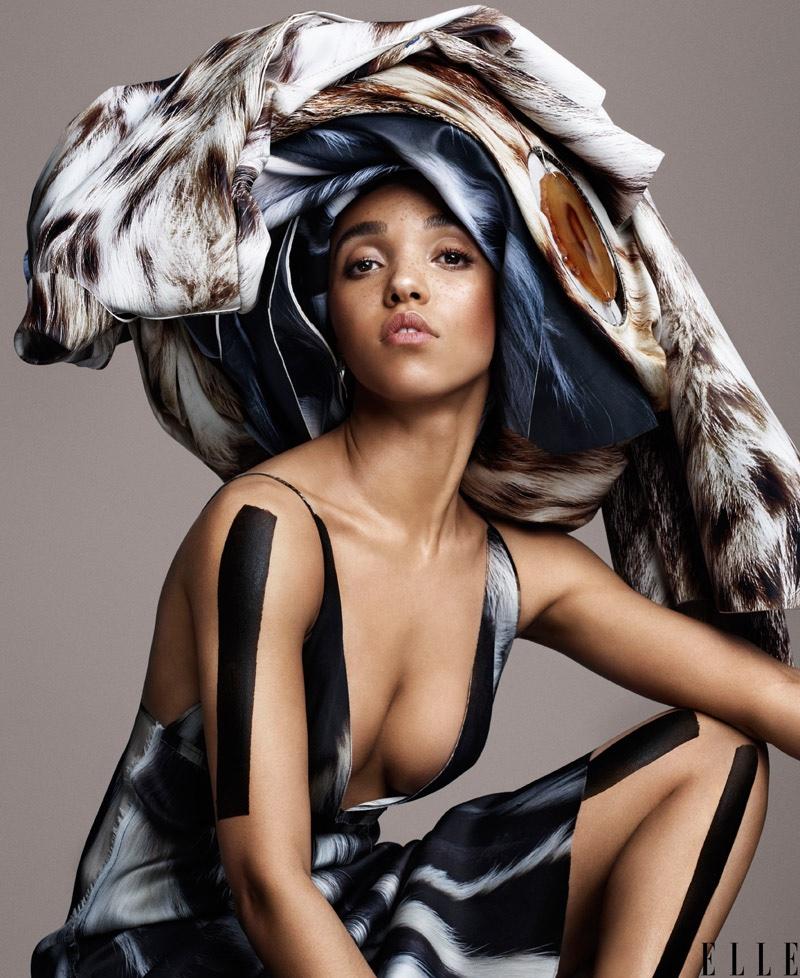 FKA Twigs stuns in Calvin Klein dress with headwrap