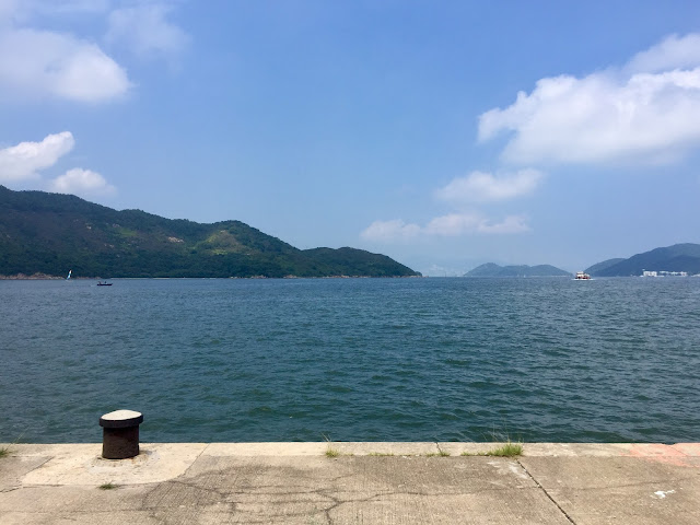 Ocean view from Mui Wo ferry pier, Lantau Island, Hong Kong