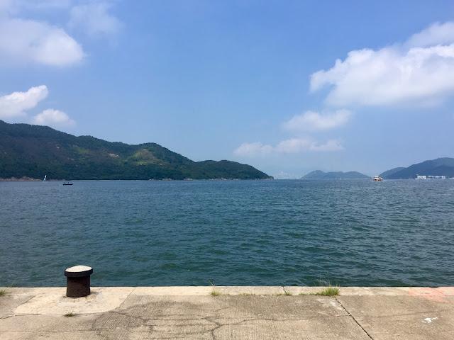 Ocean view from Mui Wo ferry pier, Lantau Island, Hong Kong