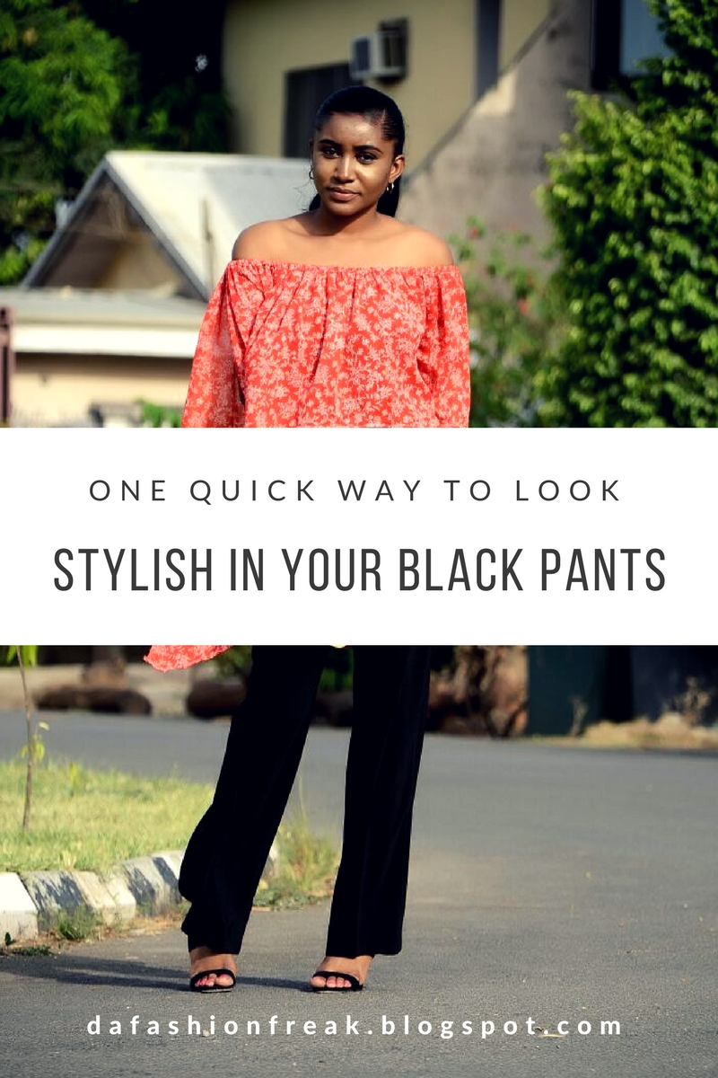styling black pants - dafashionfreak