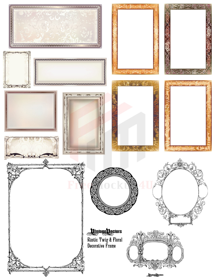 Frame Vector With Ai and Psd Bundle Pack
