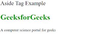 penggunaan tag aside pada html 5 untuk mendeskripsikan object utama dengan cara singkat seperti penyorotan kalimat