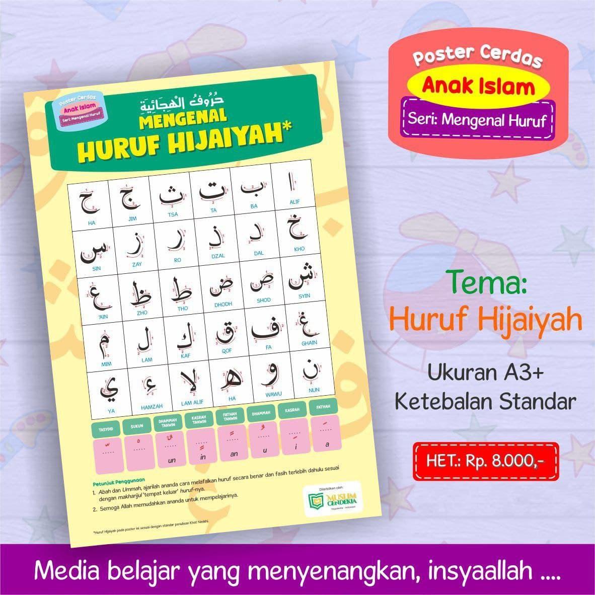 Poster Cerdas Anak Islam Poster Edukatif Muslim Cendekia