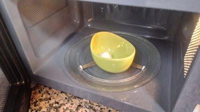 derretimos la manteca en el microondas