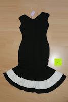 Rückseite: Alexis Leroy Damen ärmellos Vierkantansatz Fischschwanz bodycon Abendkleid