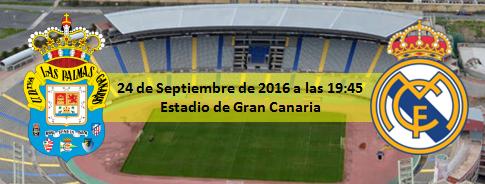 Previa UD Las Palmas - Real Madrid 24 Septiembre 19:45
