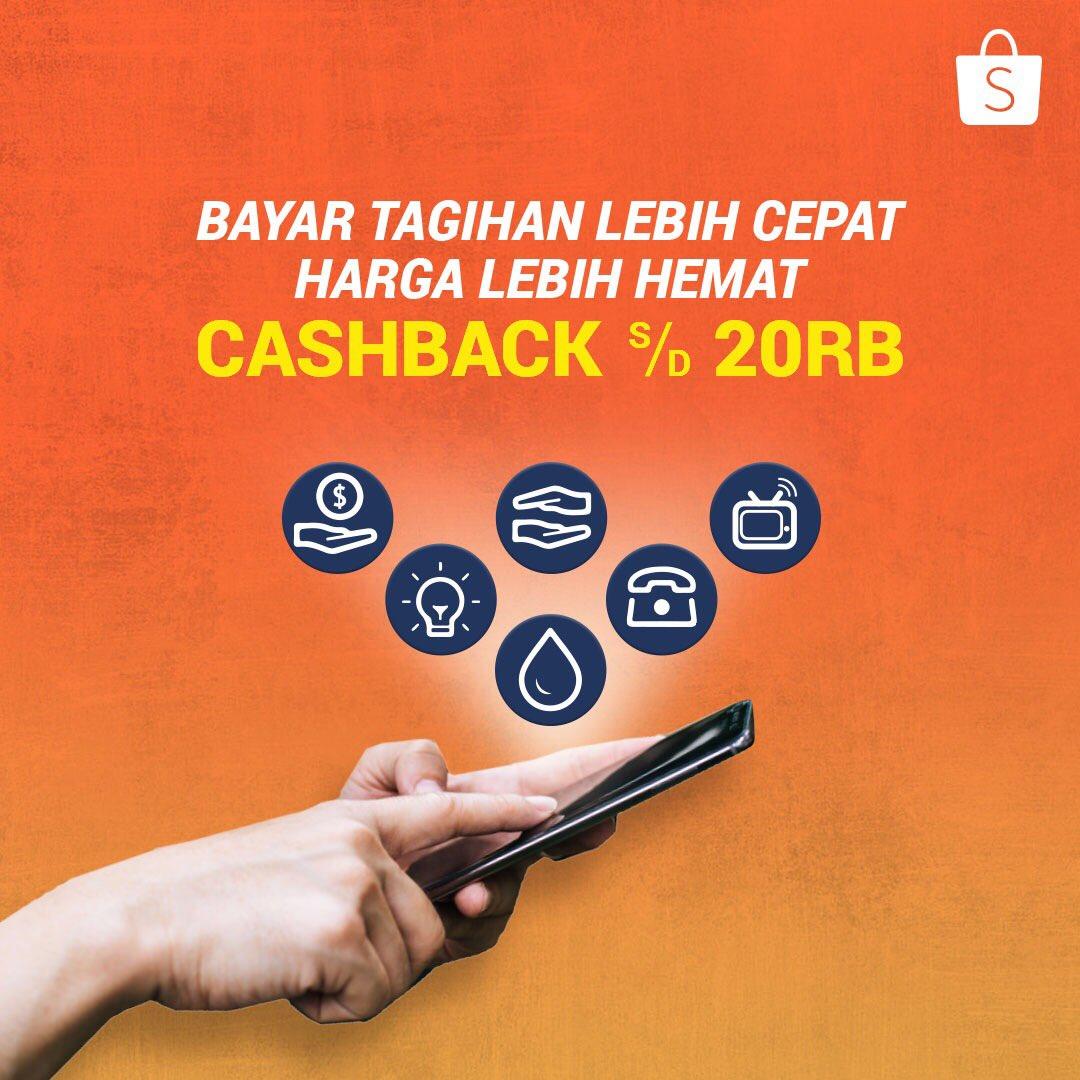 #Shopee - Promo Cashback s.d 20K Setiap Bayar Tagihan
