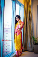 Actress Adah Sharma Exclusive Poshoot in Beautiful Yellow Silk Saree at Saree Niketan Showroom Launch  0004.jpg