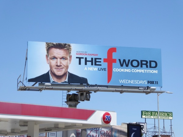 F Word series premiere billboard