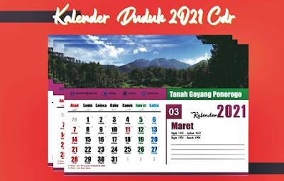 kalender duduk 2021 cdr
