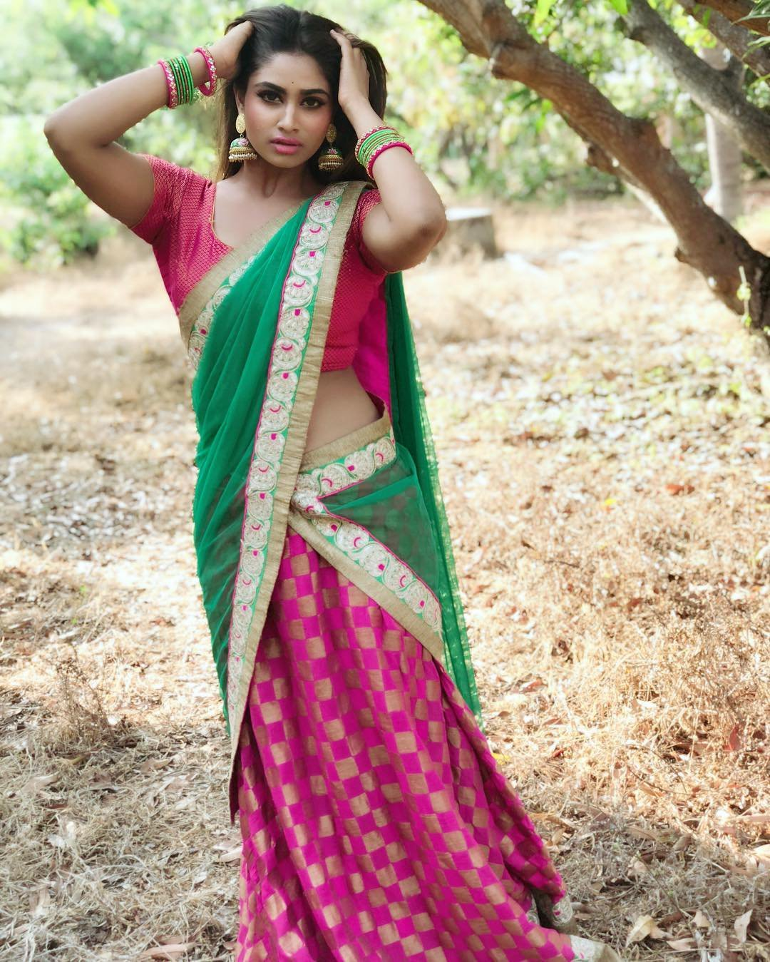 shivani narayanan Latest Saree photos
