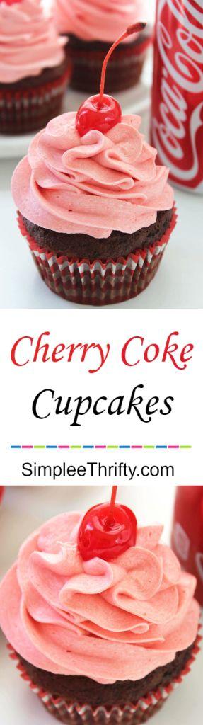 Cherry Coke® Cupcakes