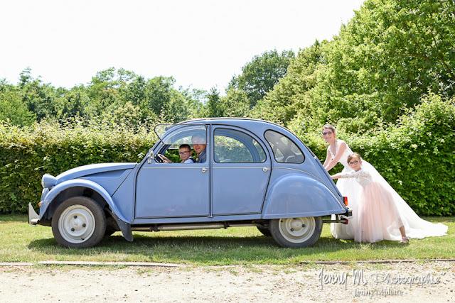photo mariés originale avec enfants