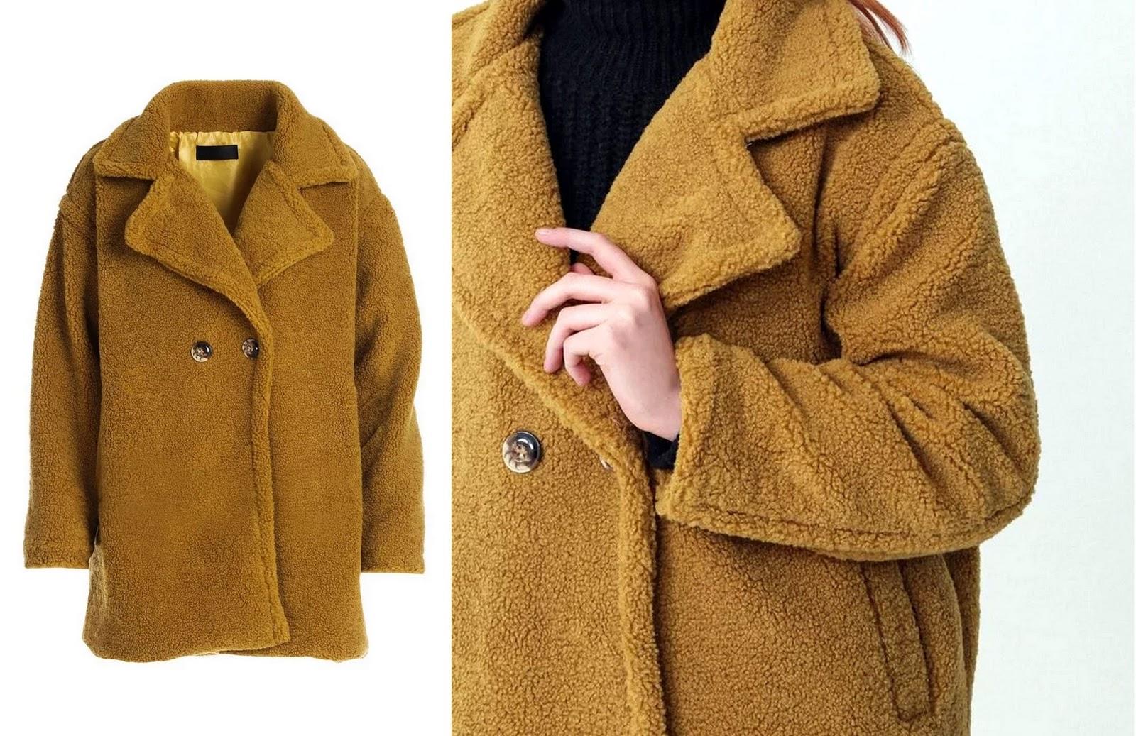 Płaszcze z imitacji futerka à la baranek
