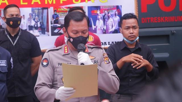 12 tersangka dari 9 kasus C3 berhasil diungkap Polda Lampung dan Jajaran