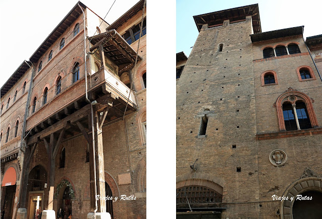 Casa Seracchioli y torre Alberici de Bolonia