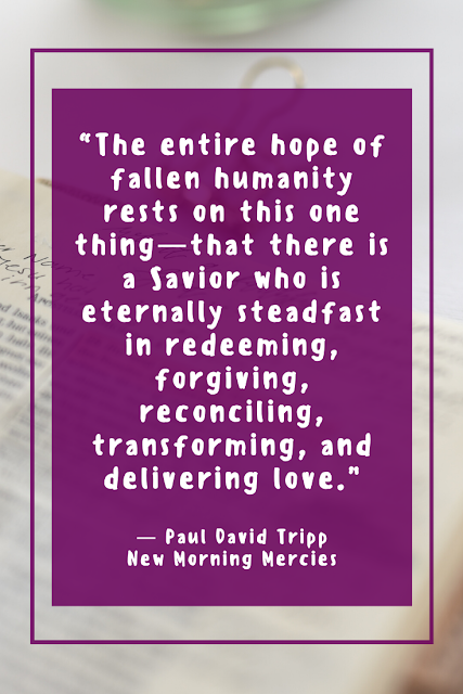 Quote by Paul David Tripp About the Hope of Christ