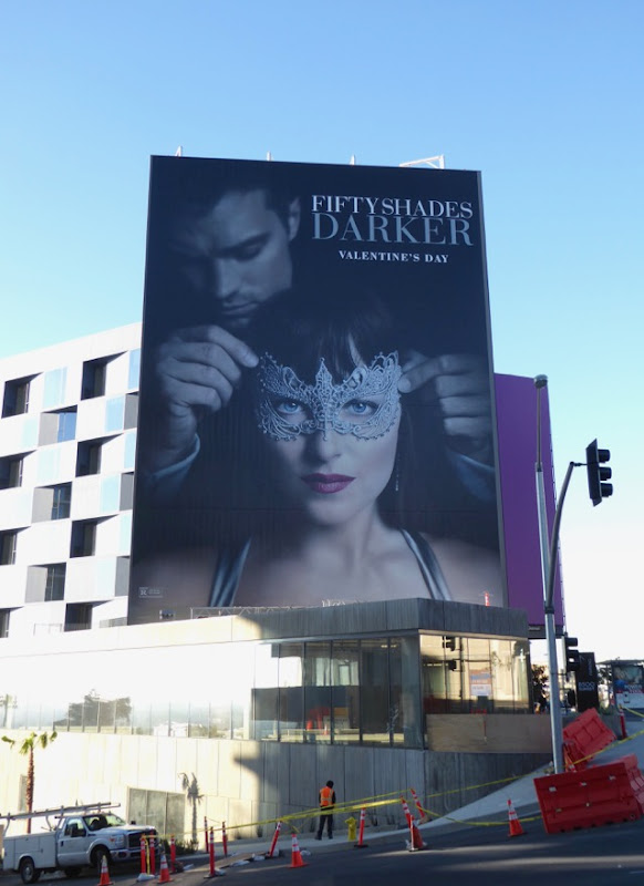 Giant Fifty Shades Darker film billboard