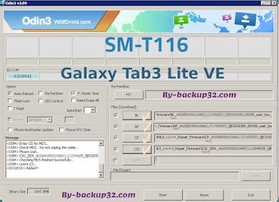 سوفت وير هاتف Galaxy Tab3 Lite VE موديل SM-T116 روم الاصلاح 4 ملفات تحميل مباشر