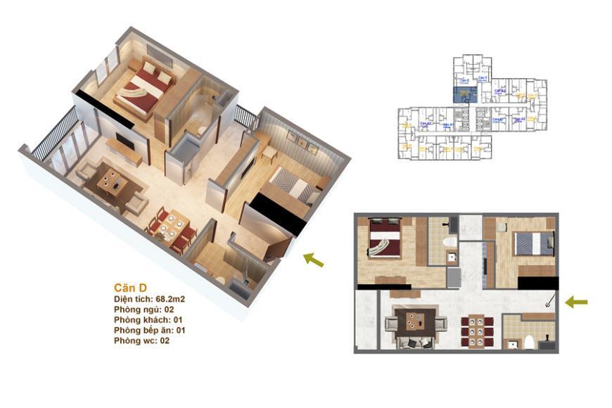 Mặt bằng căn hộ số 01 Ruby 3- Goldmark City 136 Hồ Tùng Mậu
