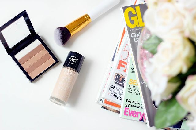 Revlon ColorStay foundation and Highlighting matte palette natural beige