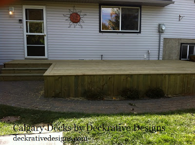 pressure treated decks calgary