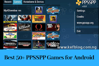 Downloaded Games on PPSSPP