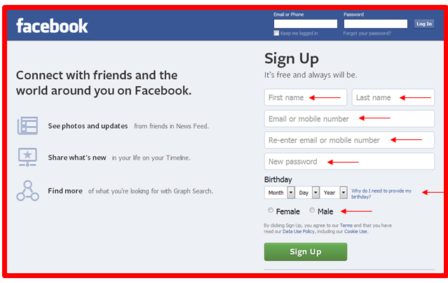 How to Sign Up Facebook New Account - DaftarEmail com