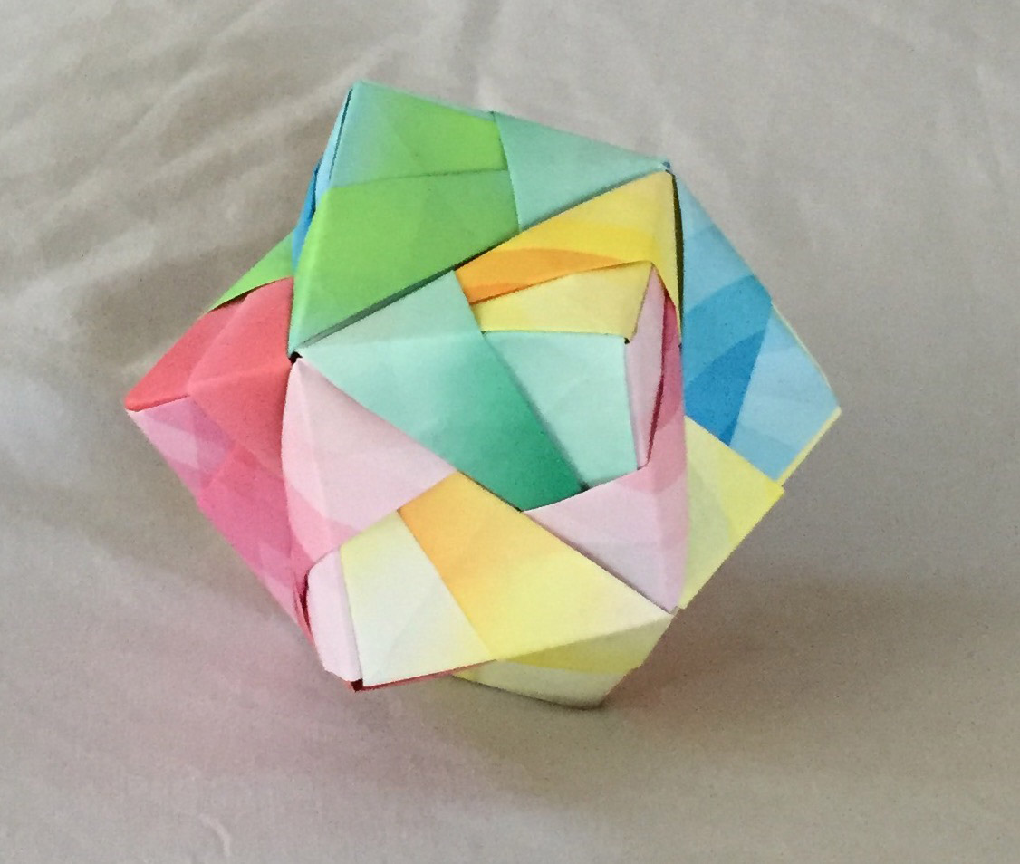 At Cub Scouts Sebby Learned To Make These Modular Origami Balls Out Of Twelve Folded Sheets Paper They Look Really Cool The Children Have Made Several